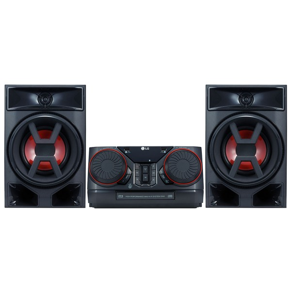 Lg ck43 microcadena 300w bluetooth lg tv soundsync reproductor de cd usb grabador y aux