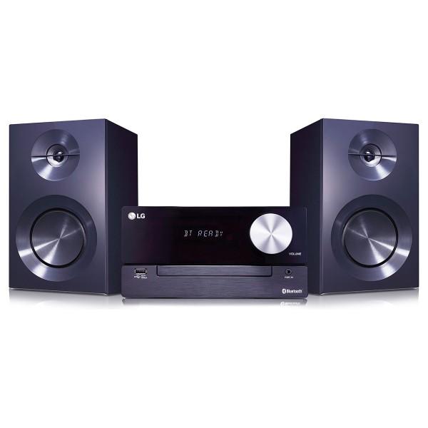 Lg cm2460 microcadena 100w de potencia con bluetooth usb aux tv sound sync xdds