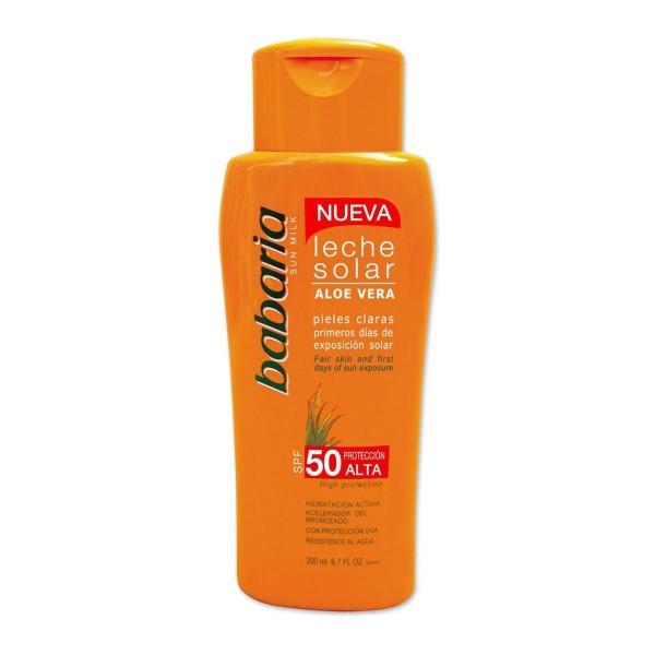 Babaria aloe vera leche solar pieles claras primeros dias spf50 200ml