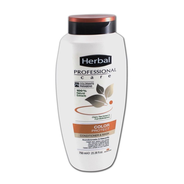 Herbal hispania professional care acondicionador & mascarilla color protect 750ml
