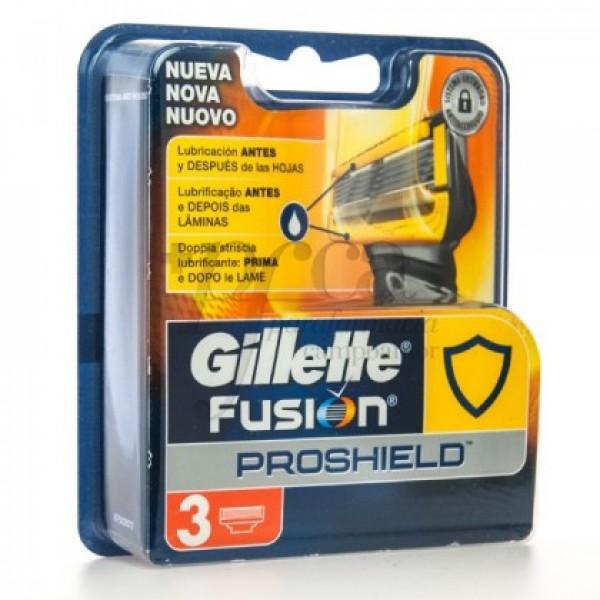 GILLETTE FUSION PROSHIELD RECAMBIO 3U