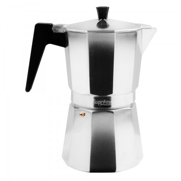 Cafetera supreme aluminio gris  3 t.