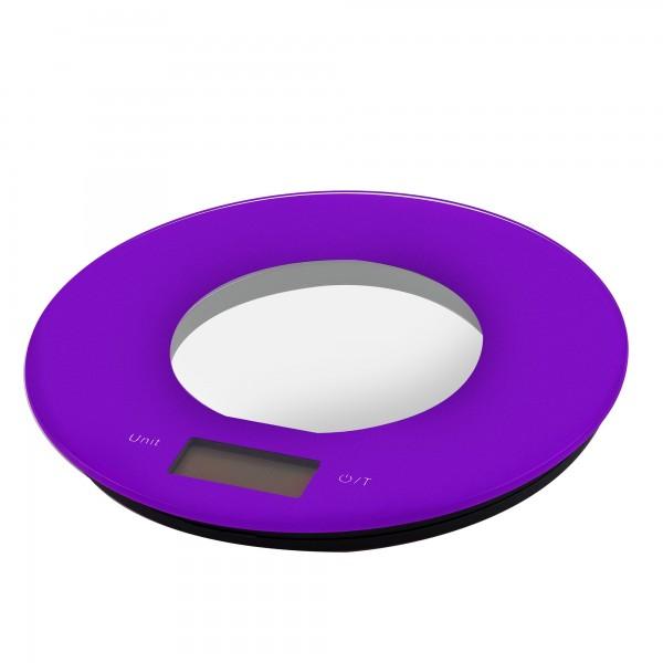 Balanza cocina elect.  kuken  5 kg. lila