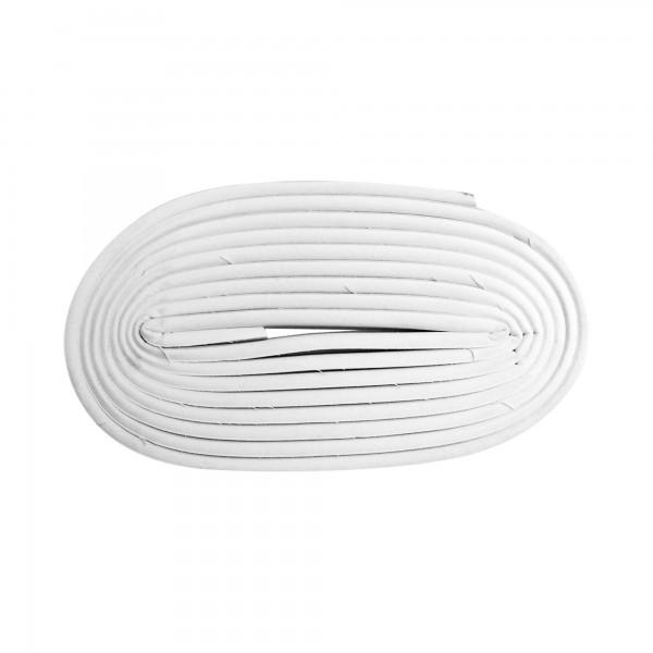 Burlete caucho tipo p  6m.x 9mm. blanco