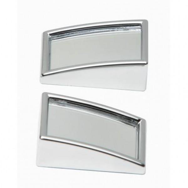 Espejo cromado mini convexo ext. rectangular 2 unidades