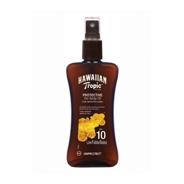 Hawaiian tropic protective dry spray oil spf10 low 200ml vaporizador
