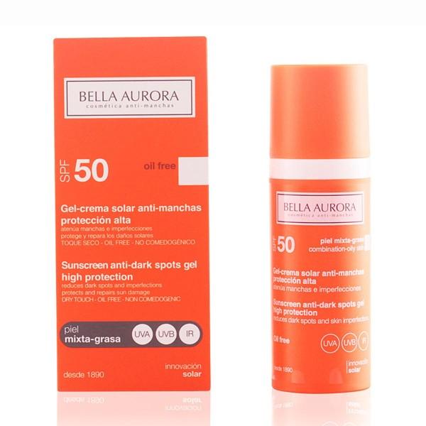 Bella aurora anti-manchas gel crema solar spf50 piel mixta-grasa 50ml