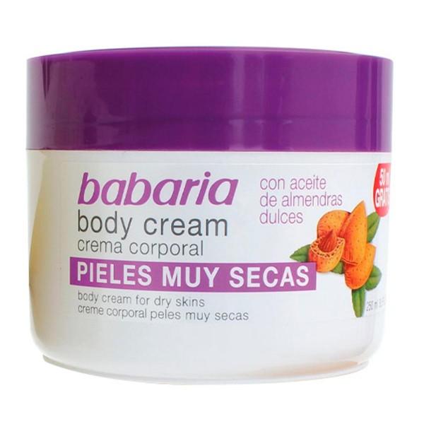 Babaria aceite almendras crema corporal piel muy seca 250ml