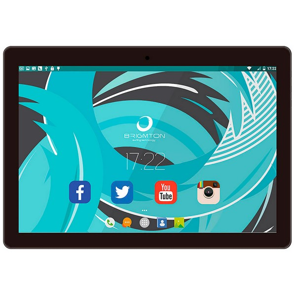 Brigmton btpc1024 negro tablet wifi 10.1'' ips/4core/16gb/2gb ram/2mp