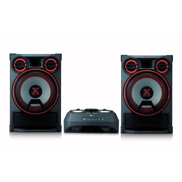 Lg ck99 sistema de audio de alto voltaje con 5000w de potencia, bluetooth, party link inalábrico, usb, funciones dj y karaoke star
