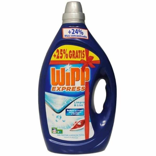 Wipp Express detergente gel limpio y liso 31+8  ( 25% gratis)
