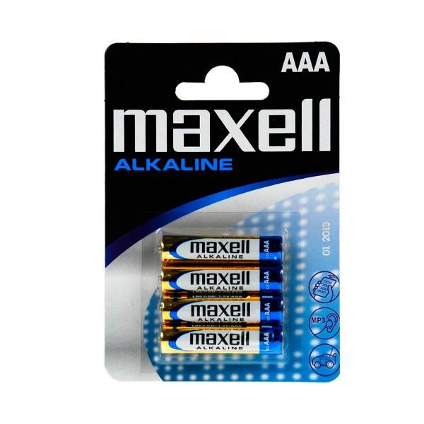 Maxell pila alcalina lr03 aaa 1.5v blister de 4 unidades