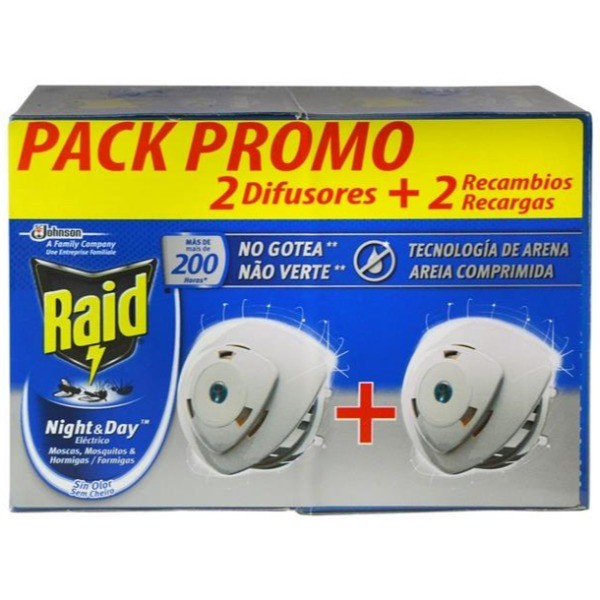 Raid Night & Day 2 Aparatos + 2 Recambios